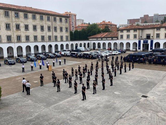 Policías en prácticas que se incorporan en Asturias.