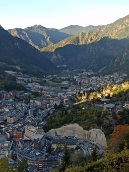 El nucli d'Escaldes-Engordany i Andorra la Vella