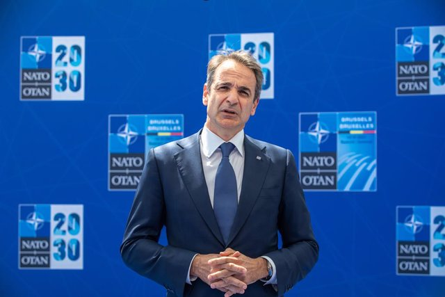 Archivo - El primer ministro griego, Kyriakos Mitsotakis.