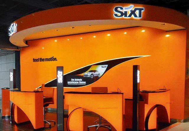 Mostrador de Sixt.