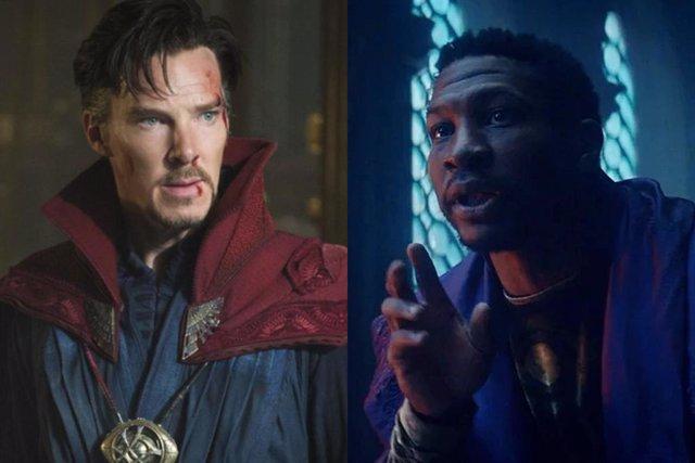 Benedict Cumberbatch como el Doctor Strange y Jonathan Majors como El que permanece