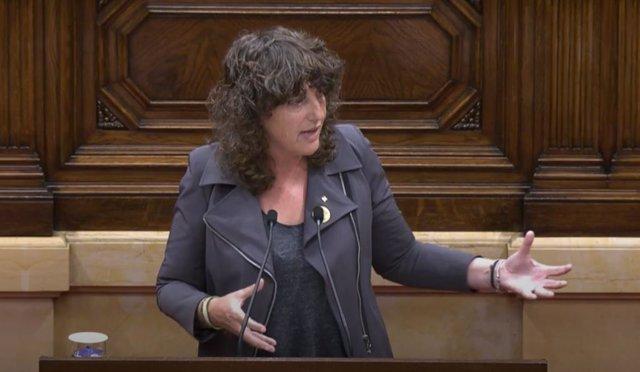 La consellera d'Acció Climàtica, Alimentació i Agenda Rural de la Generalitat, Teresa Jordà, al Parlament