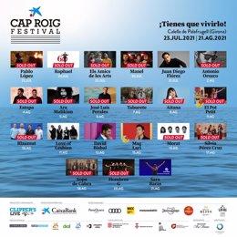 Cartel del Festival de Cap Roig
