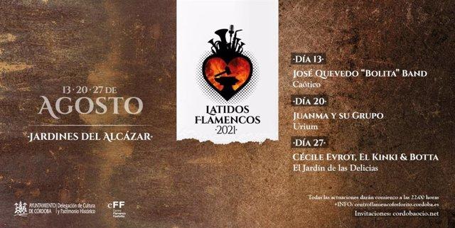 Imagen promocional del ciclo 'Latidos Flamencos'.