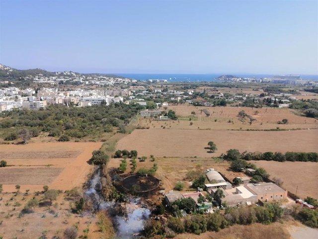 Incendio en Ibiza.