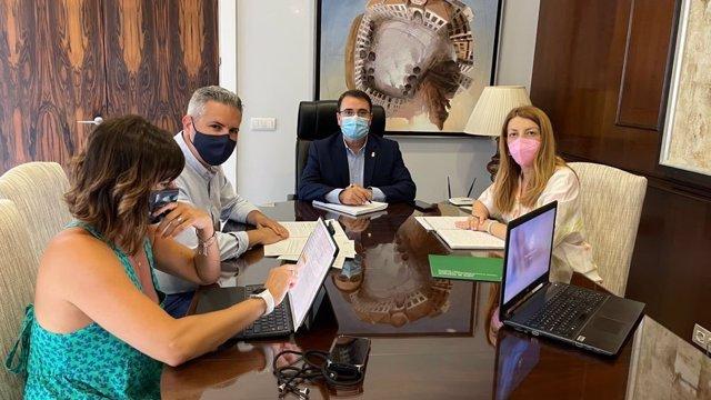 Reunión con el alcalde de Andújar