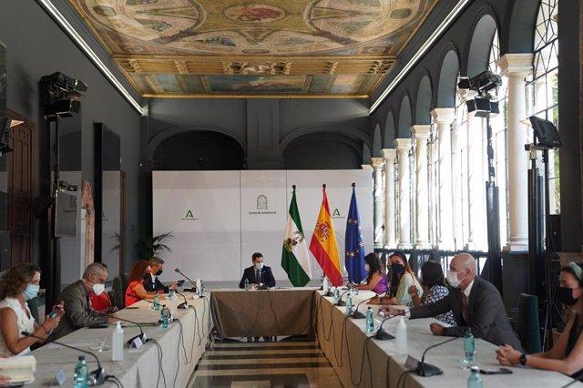 Reunión de Juanma Moreno con Cermi Andalucía