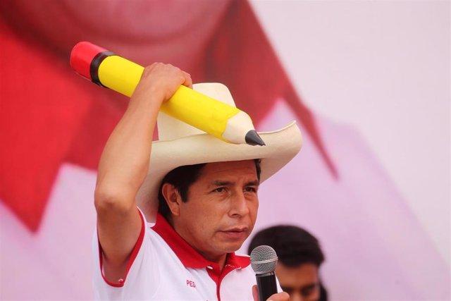 El presidente electo de Perú, Pedro Castillo.