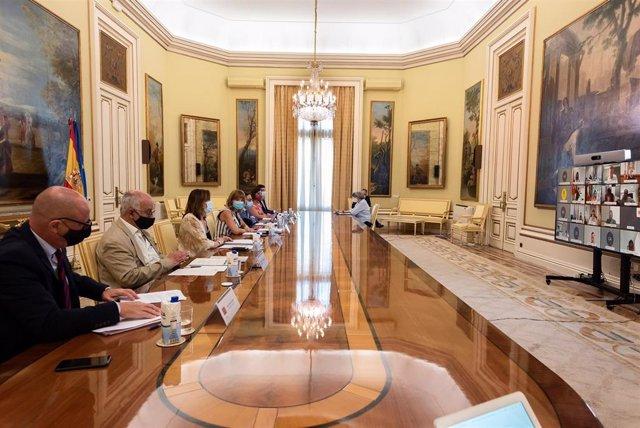 Conferencia Sectorial del Sistema de Cualificaciones y Formación para el Empleo de este martes, 20 de julio de 2021, presidida por la ministra de Educación y Formación Profesional, Pilar Alegría