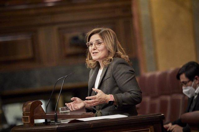 Archivo - La diputada socialista Pilar Cancela interviene durante una sesión plenaria en el Congreso de los Diputados, en Madrid, (España), a 23 de febrero de 2021. El Pleno debate hoy, unas horas después de que el Rey acuda a la Cámara a celebrar el 40 a