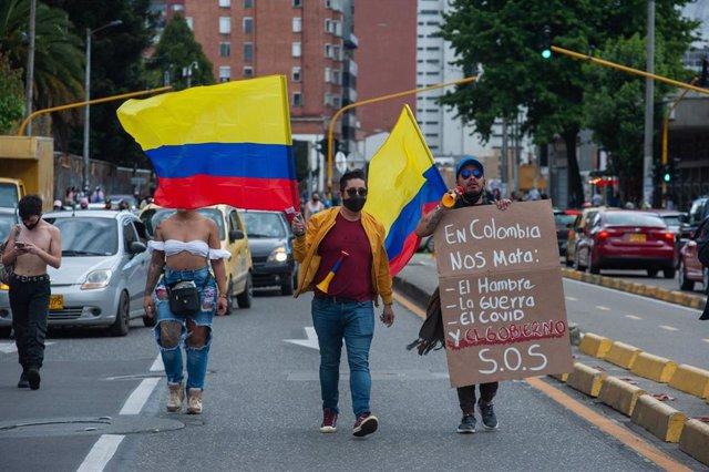 Archivo - Protestas en Colombia