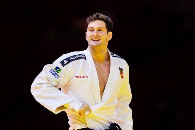 Archivo - Nikoloz Sherazadishvili, oro en el IJF World Judo Championships 2021