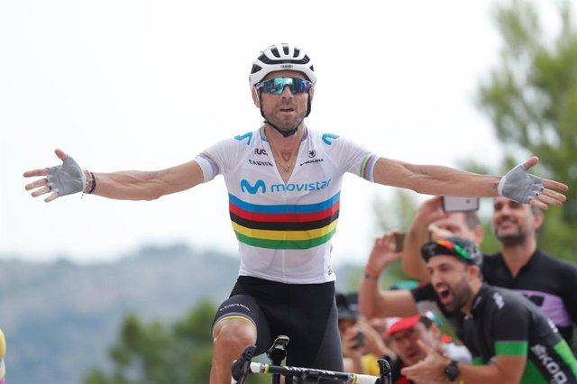 Archivo - El ciclista español Alejandro Valverde, del Movistar Team.