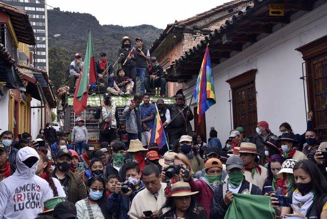Protestas antigubernamentales en Colombia en el Día de la Independencia