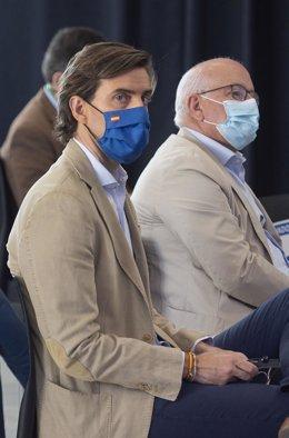 El vicesecretario de Comunicación del PP, Pablo Montesinos,  participa en las jornadas 'Los retos de las democracias descentralizadas: España y Alemania', en el Círculo de Bellas Artes, a 16 de julio de 2021, en Madrid (España).
