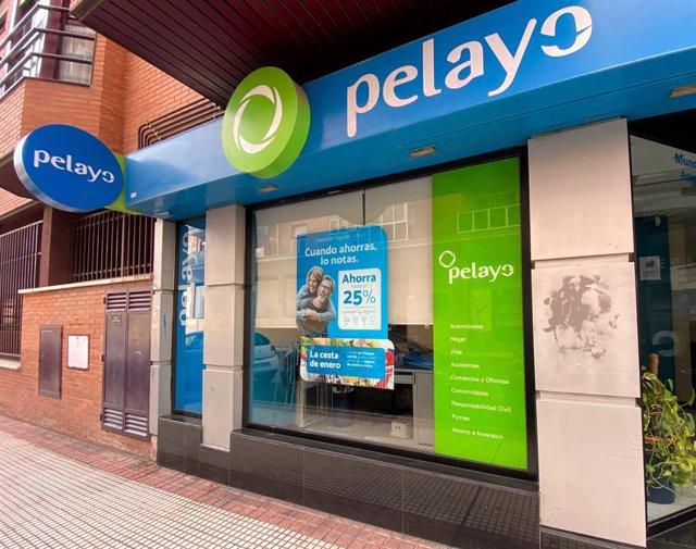 Archivo - Exterior de una oficina de la compañía aseguradora Pelayo, en Madrid a 30 de enero de 2020.