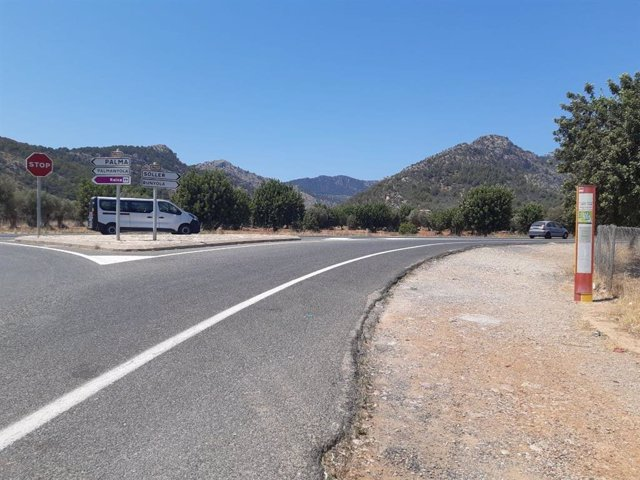 Cruce de la carretera de Soller con los caminos de Raixa y Calbet