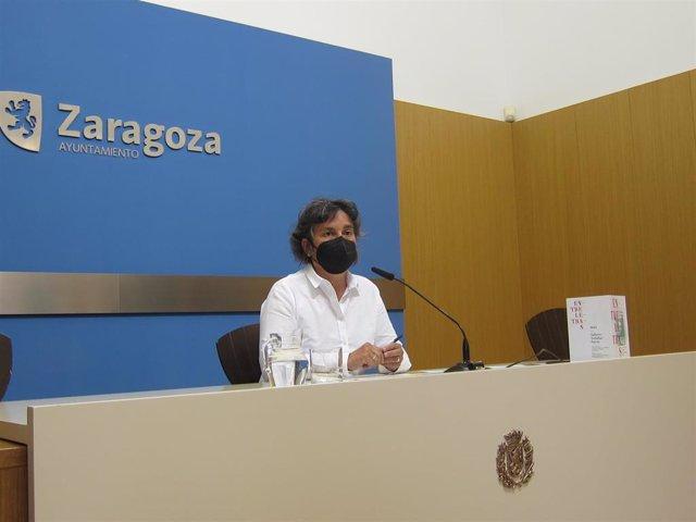 Archivo - La concejal de ZeC y presidenta del distrito de Torrero, Luisa Broto,