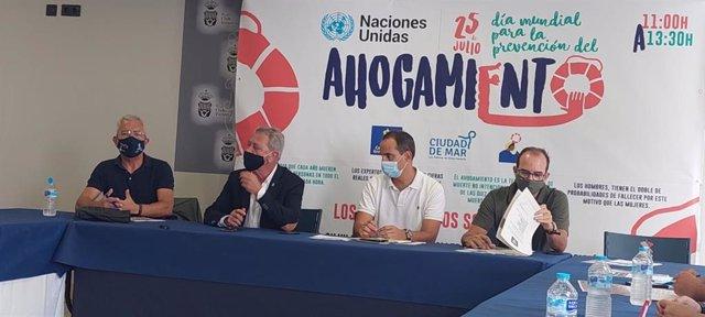 Pressentanción del programa que se desarrollará para celebrar el Día para la Prevención de los Ahogamientos en Las Palmas de Gran Canaria