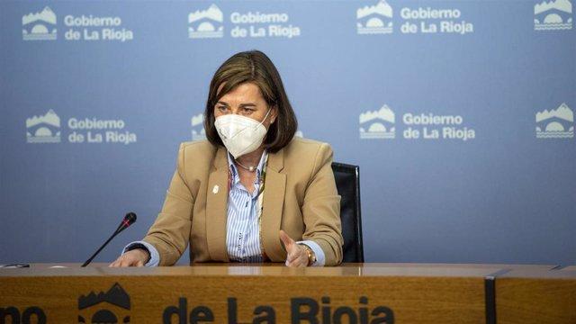Archivo - La portavoz del Gobierno riojano, Sara Alba