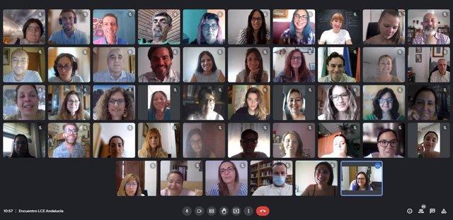 Los participantes de las Lanzaderas Conecta Empleo de Granada, Jaén y Lucena.