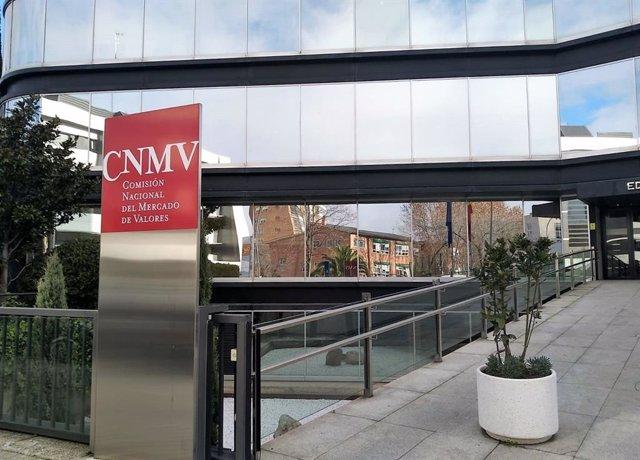Archivo - Sede de la Comisión Nacional del Mercado de Valores (CNMV) en Madrid