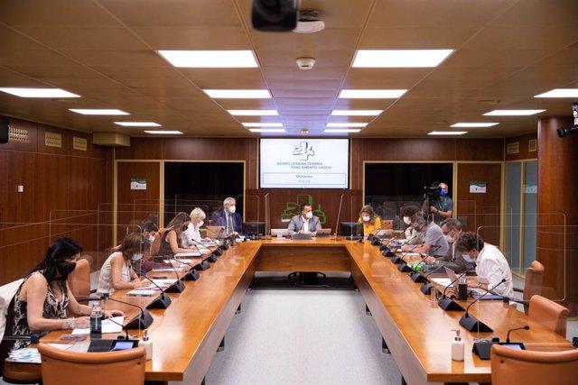 La consejera de salud, gotzone sagardui, comparece ante la comisión del parlamento vasco
