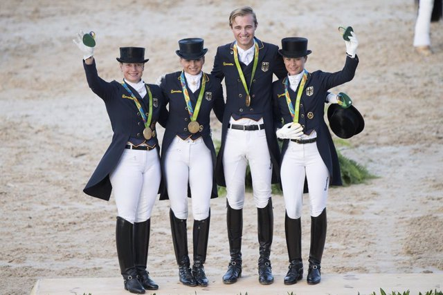Team Germany arrive at the Tokyo 2020 Olympic Games as defending champions and strong favourites to do it all over again.  FEI/Richard Juilliart