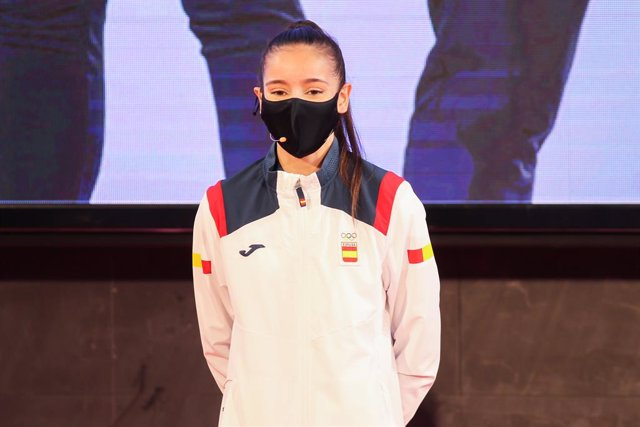 Archivo - Adriana Cerezo, taekwondist of Spain during the official presentation of the Spanish Olympic Team kit for the Tokyo 2020 Olympic Games at Comite Olimpico espa–ol on Jun 1, 2021 in Madrid, Spain.