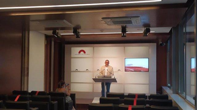 El líder de Cs en Catalunya, Carlos Carrizosa, en una foto de archivo.