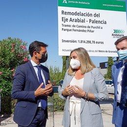 El alcalde de Granada, Francisco Cuenca, acude al acto de inicio de la primera fase de las obras del eje Arabial-Palencia