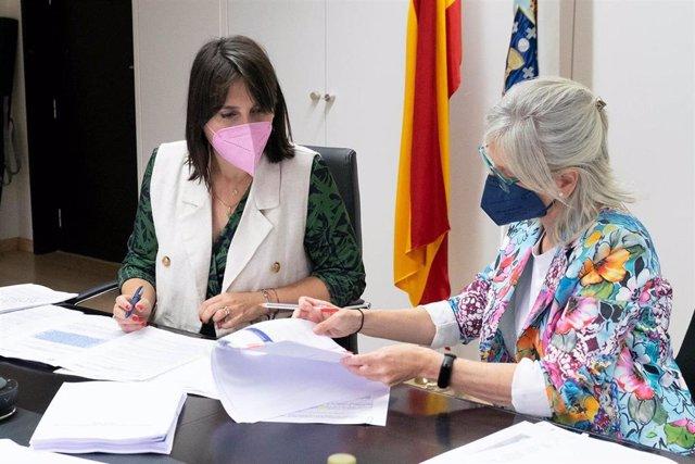 La conselleira de Emprego e Igualdade, María Jesús Lorenzana, participa por videoconferencia en la Conferencia Sectorial de Emprego e Asuntos Laborais.
