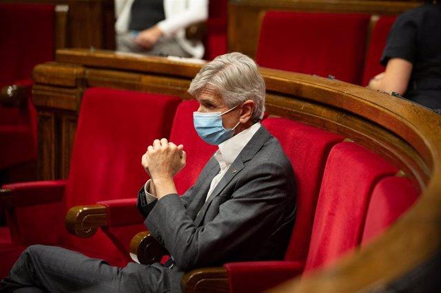 El conseller de Salud de la Generalitat, Josep Maria Argimón, durante una sesión plenaria en el Parlament de Catalunya, a 21 de julio de 2021, en Barcelona, Catalunya (España). Durante el Pleno, el conceller de Economía ha anunciado que el Govern recurrir