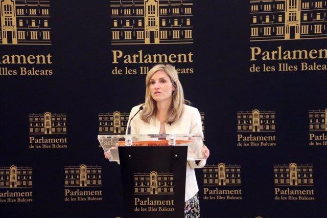 Archivo - La coordinadora autonómica de Ciudadanos (Cs) Baleares y portavoz del grupo parlamentario, Patricia Guasp.