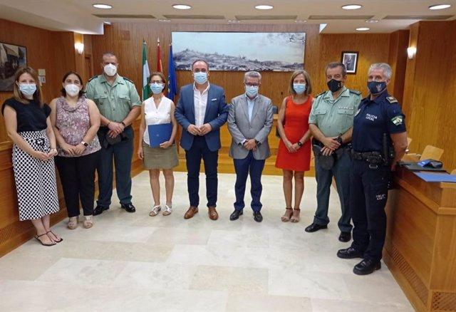 Reunión donde se ha formalizado la integración de Castilblanco de los Arroyos y Cantillana a VioGén