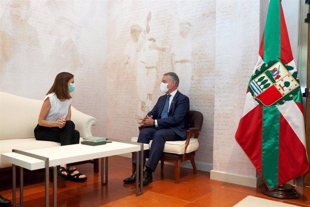 El Lehendakari Iñigo Urkullu recibe a la ministra de Derechos Sociales y Agenda 2030 Ione Belarra