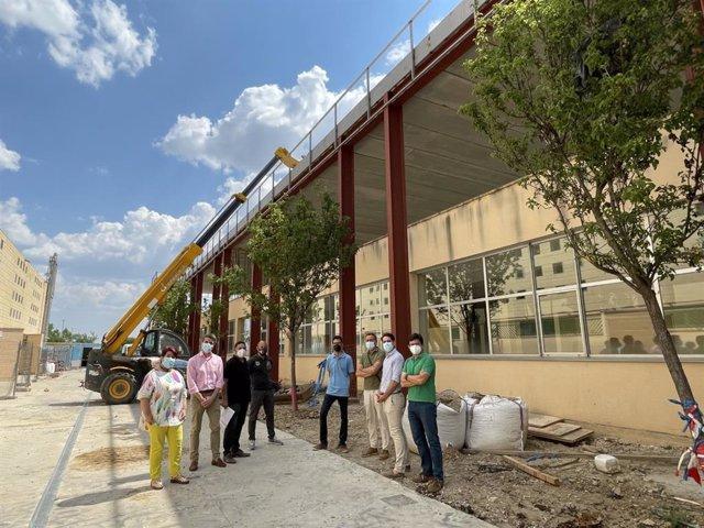 Construcción del nuevo centro cívico de Nueva Segovia.