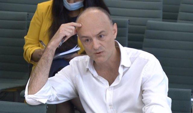 Archivo - Dominic Cummings durante su comparecencia ante el Parlamento británico.