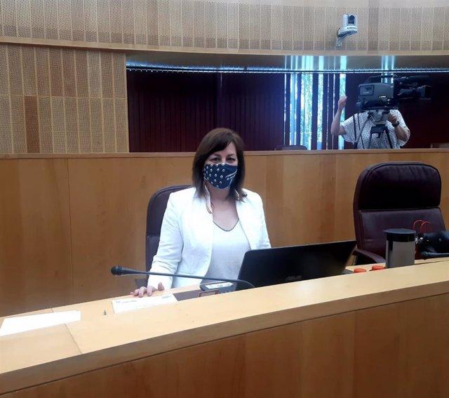 La portavoz de Vox en la Diputación de Granada, Cristina Jiménez.