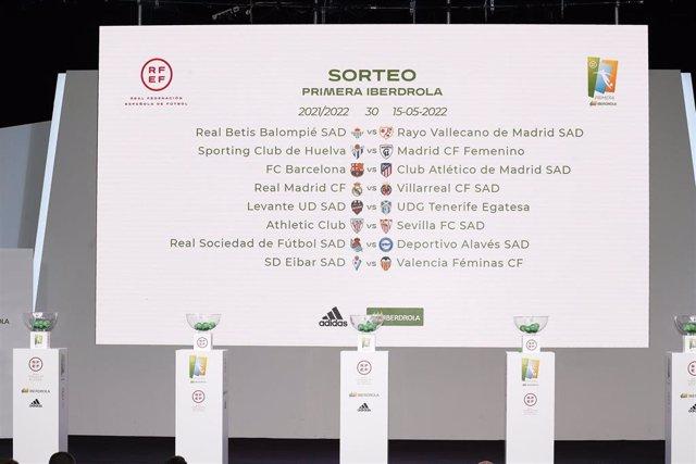 El campeón FC Barcelona debuta contra el Tenerife y derbi Atlético-Rayo en la primera jornada de la Primera Iberdrola 2021-22.