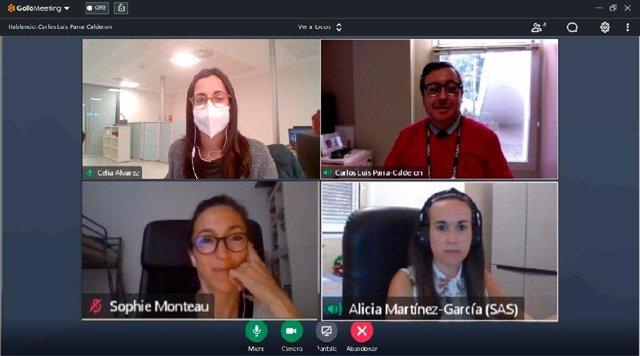 Cita entre los responsables que coordinan la demostración clínica del proyecto del Hospital Universitario Virgen del Rocío