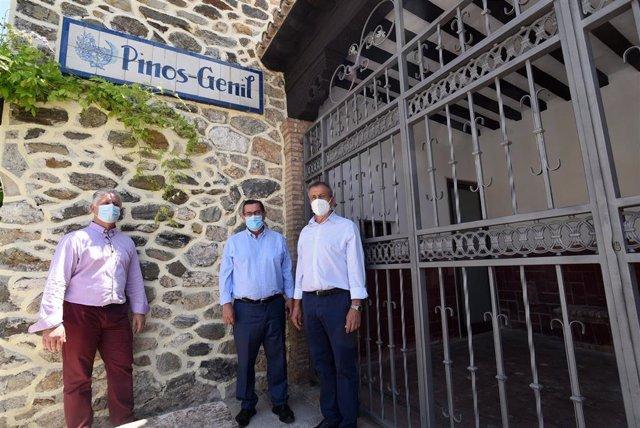 Visita del presidente de la Diputación de Granada a Pinos Genil