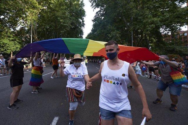 Foto de archivo de la mnanifestación del Orgullo LGTBI en Madrid (España).