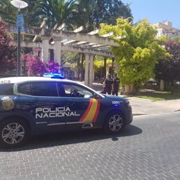 Patrulla de la Policía Nacional en Pere Garau