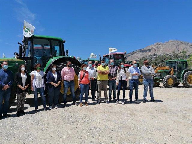 UPA, Asaja y COAG en la tractorada de mayo en la Comarca de Los Vélez (Almería)