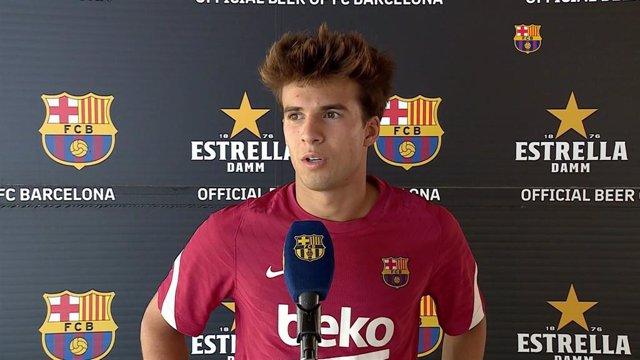 El jugador del Barça Riqui Puig en declaraciones a Barça TV, el 21 de julio de 2021