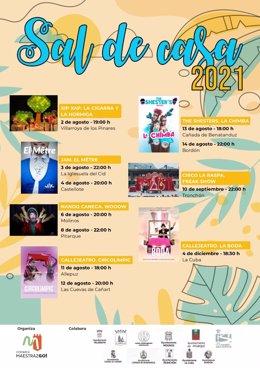 Cartel de la duodécima edición del festival 'Sal de Casa' en el Maestrazgo