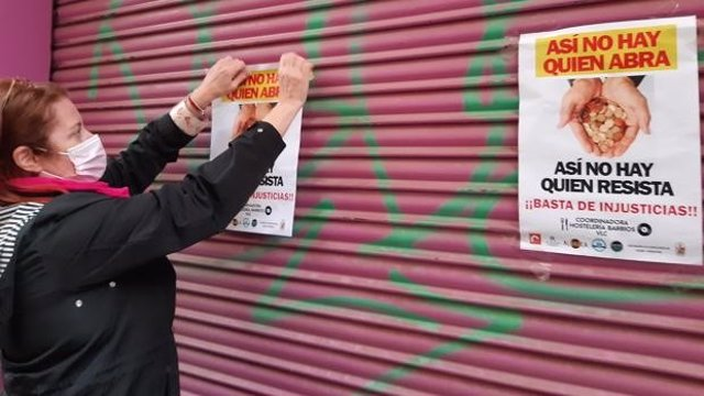 Protesta de hosteleros valencianos