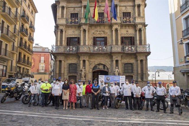 Recepción Moto for peace en el Ayuntamiento de Pamplona.