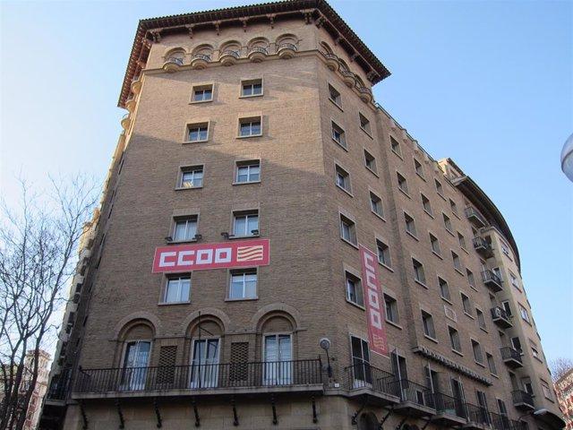 Archivo - Sede de Comisiones Obreras en Zaragoza